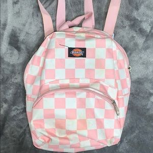 Checkered mini backpack